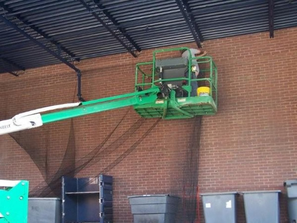 Bird control job at a warehouse in Hapeville